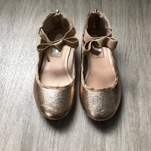 Toddler Kennith Cole Rose Gold Ballet Shoe
